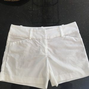 Ann Taylor White City Shorts